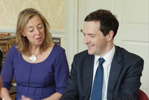 Tracy North of Outwrite PR meets George Osborne