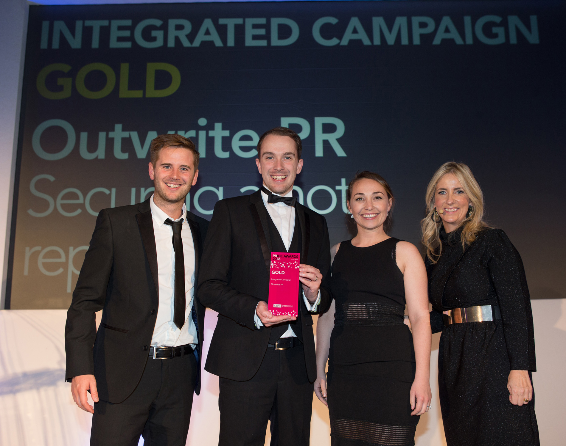 Outwrite PR won best integrated PR campaign in Wales at the CIPR awards