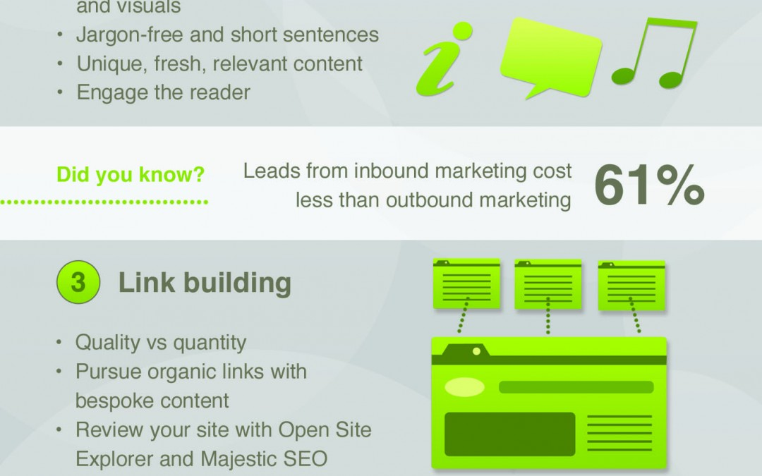 Top 5 SEO tips infographic