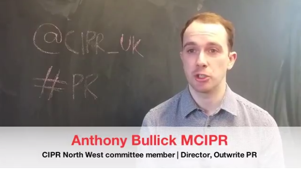 Anthony becomes face of UK-wide CIPR membership campaign
