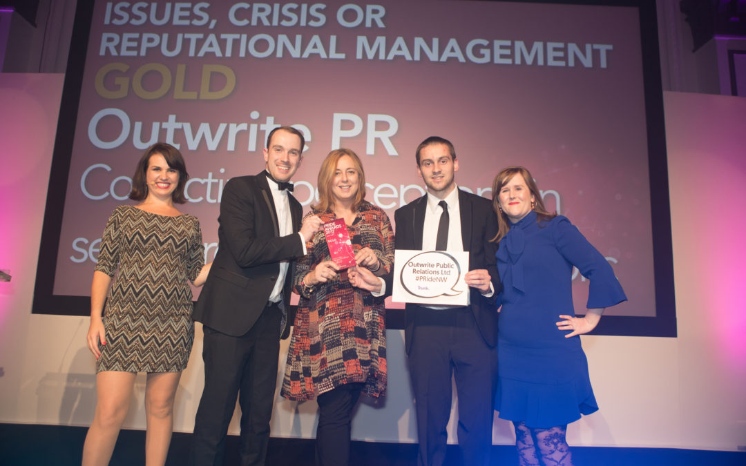 Outwrite PR's crisis campaign named best at awards in Manchester