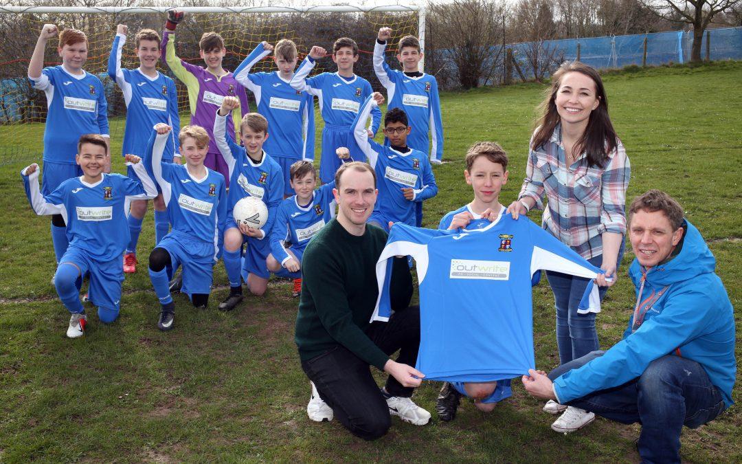 Mold junior football club boosted by digital PR agency's sponsorship